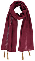 Numero 74 Pompom Scarf 55*160 - Teen and Women's Collection Raspberry red