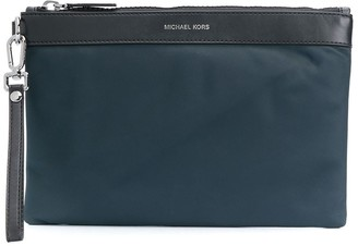 Michael Kors Leather Panel Clutch
