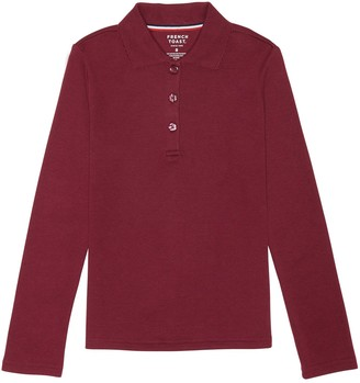 French Toast Girls 7-20 & Plus Size School Uniform Long-Sleeved Polo Shirt