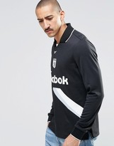 Reebok Collared Sweatshirt In Black AY4858