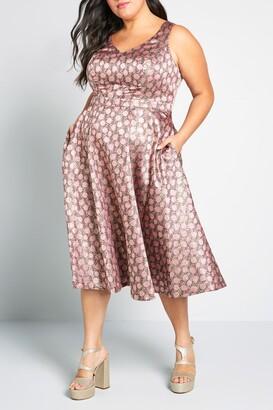 ModCloth That's My Gala Midi Dress