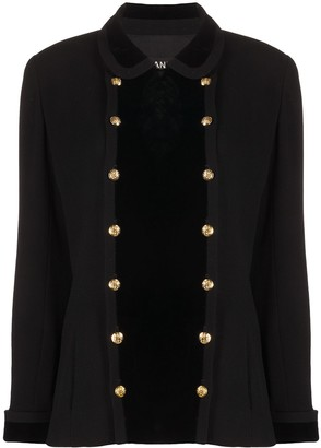 Chanel Pre Owned Double-Breasted Wool Jacket