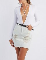 Charlotte Russe Caged Plunging Bodysuit