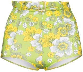 Dodo Bar Or Pamela high-waist floral print bikini bottoms