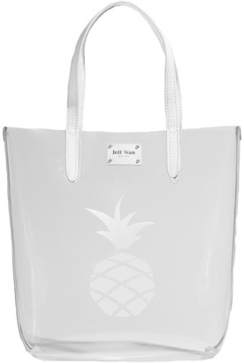 Jeff Wan Clear Tote With Pineapple In White