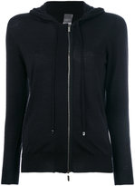 Lorena Antoniazzi off-centre zip hoodie - women - Silk/Nylon/Cashmere/Metallic Fibre - 42