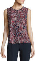 Tommy Hilfiger Paisley Sleeveless Tops