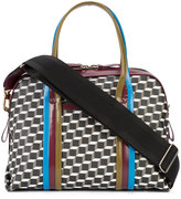 Pierre Hardy Rally tote - women - Patent Leather/Canvas - One Size