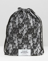 Cheap Monday Lace Look Drawstring Backpack