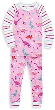 Hatley Little Girl's & Girl's Dino Tee & Leggings Set