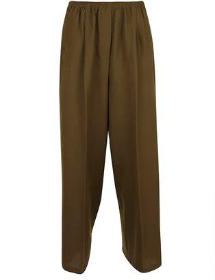 Forte Forte Forte_Forte Wool Structured Wide Pants With Elastic