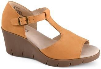 Parisia Leather Wedge Heel Sandal