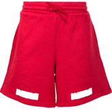 Off-White striped detail track shorts