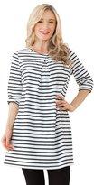 Sweet Mommy Striped Maternity and Nursing Three-quarter Sleeve Dress WHF