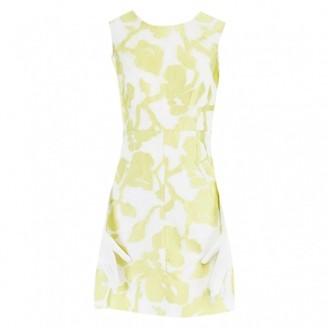 Diane von Furstenberg Yellow Fur Dresses