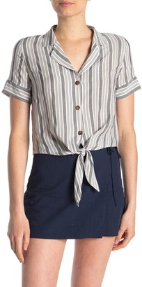Hyfve Front Tie Striped Top