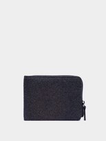DKNY Flannel Wool Wallet With Leather Trim