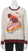 Disney Disney's Juniors' Minnie Mouse French Terry Graphic Sweatshirt