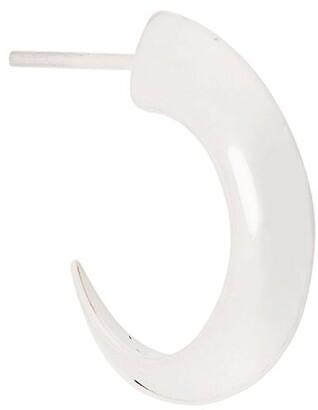 Shaun Leane sterling silver Cat Claw medium hoop earrings