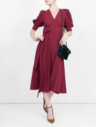 Proenza Schouler volume sleeve dress red