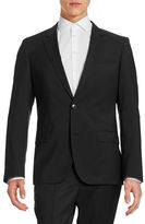 HUGO Pickstitched Two-Button Wool Jacket