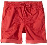 Ralph Lauren Parachute Twill Rolled Shorts (Infant)