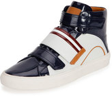 Bally Herick Patent Leather High-Top Sneaker, White