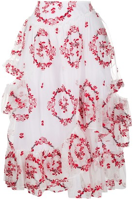 Simone Rocha High-Waisted Ruffle Skirt