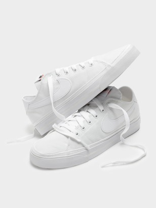 Nike Womens Court Legacy Canvas Sneaker in White