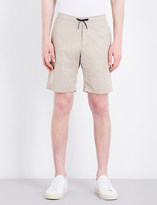 Sandro Relaxed-fit mid-rise stretch-cotton shorts