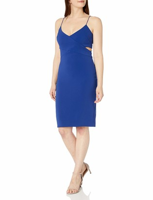 Badgley Mischka Women's Strappy V Neck Cut Out Cocktail