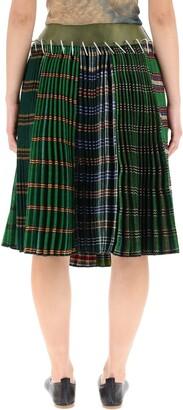 Chopova Lowena Midi Pleated Skirt With Belt