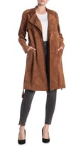 Blank NYC Blanknyc Denim Belted Faux Suede Trench Coat