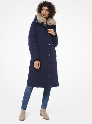 MICHAEL Michael Kors Faux-Fur Trim Quilted Puffer Coat