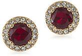 Lauren Ralph Lauren Lauren Treasure Trove Red and 12K Gold-Plated Stud Pierced Earrings