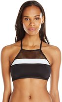 LaBlanca La Blanca Women's Game Set Mesh Hi Neck Bra Bikini Top