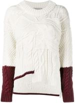 Preen Line cable knit jumper