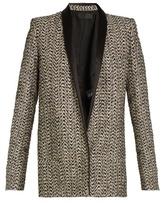Haider Ackermann Depompadour shawl-lapel metallic-tweed jacket