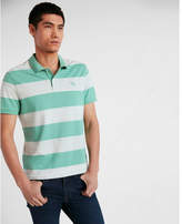 Express small lion space dyed stretch pique polo