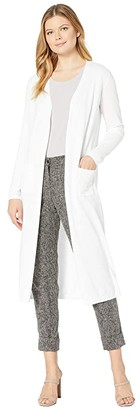 Tribal Long Sleeve Long Sweater Cardigan (White) Women's Clothing