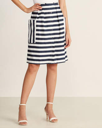 Emily And Fin Zoe Nautical Stripe Skirt