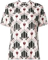 Valentino Love Blade top - women - Silk - M