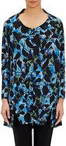 Zero Maria Cornejo WOMEN'S CREPE BELI TUNIC DRESS-BLUE SIZE 2