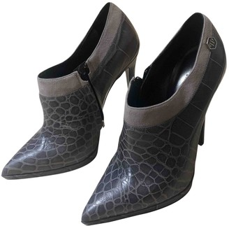 Philipp Plein \N Grey Leather Ankle boots