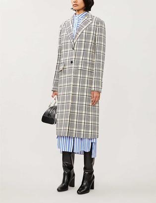 Prada Checked wool coat