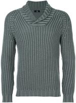 Fay shawl lapel ribbed jumper