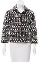 Tory Burch Notch-Lapel Printed Blazer
