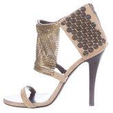 Giuseppe Zanotti x Balmain Mesh Studded Sandals