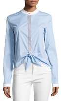 Bailey 44 Homeostasis Striped Tie-Front Shirt, Sky