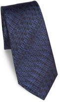Z Zegna Digital Line Printed Silk Tie